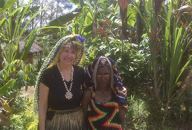 Helen with Woman in New Guinea